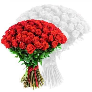 Fleurs en Deuil | image du bouquet de roses rouges courtes tiges