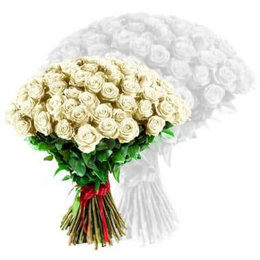 Fleurs en Deuil   image du bouquet de roses blanches coutes tiges