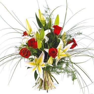 Fleurs en Deuil | Image du bouquet de fleurs multi couleur Duchesse