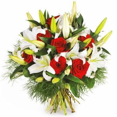 Fleurs en Deuil | Image du bouquet rond de fleurs Délicatesse