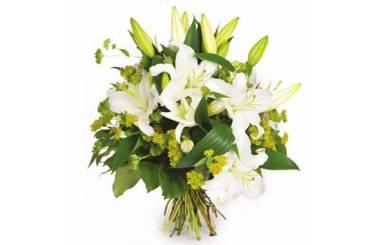 Fleurs en Deuil | Bouquet de lys blanc Coton
