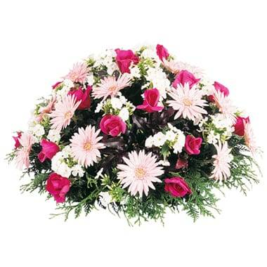 "Fleurs en Deuil | Coussin de fleurs roses deuil ""Eternel"""