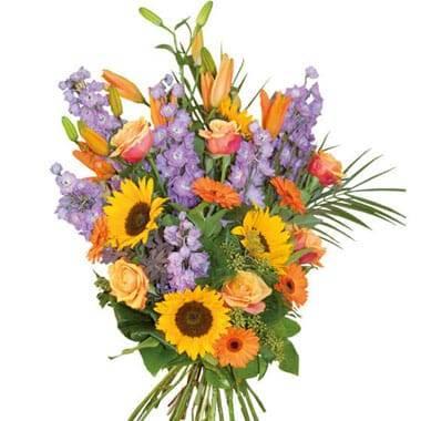 Fleurs en Deuil | image du bouquet gerbe de fleurs de deuil Horizon