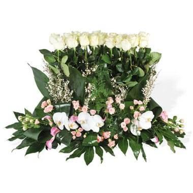 Fleurs en Deuil | image de la raquette de fleurs de deuil Angélus