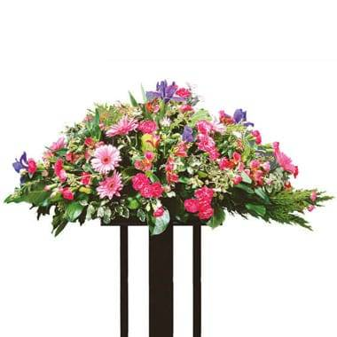 "Fleurs en Deuil | image de la Raquette de fleurs deuil ""Solstice"""
