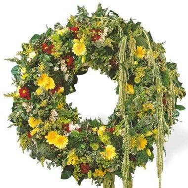 Fleurs en Deuil | image de la Couronne de deuil Ciel Étoilé