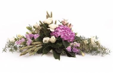 Fleurs en Deuil | image de la raquette de deuil parme & blanche Affection