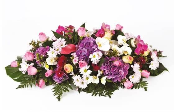 "Fleurs en Deuil | image de la Raquette de fleurs de deuil ""Memory"""
