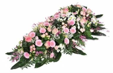 """Fleurs en Deuil   image de la Composition de fleurs deuil rose """"Repos Eternel"""""""