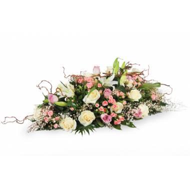 "Fleurs en Deuil | image de la Raquette de fleurs roses deuil ""Equinoxe"""
