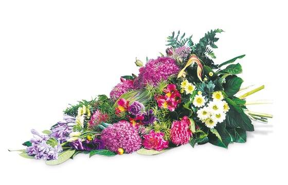 "Fleurs en Deuil | image de la Gerbe de fleurs de deuil ""Tendresse Eternelle"""